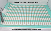 "extra large giver enuresis bed wetting mat 20"" x 30"""