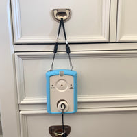 an alarm that attaches to the Giver 24 x 68 inch caregiver alert with nurse call rip cord tether