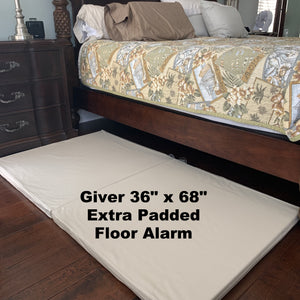 "Huge bed length 36"" x 68"" Giver floor alarm with extra thick padding"