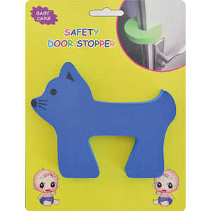Kindergard Babyproof Safety Foam Door Stopper, Blue, Stop Fingers From Getting Smashed or Pinched