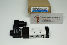 "Load image into Gallery viewer, Mindman MVSD-180-4E1 AC220V Solenoid Valve 5/2 1/8"" BSP (Made in Taiwan)"