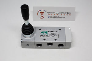 "API A1MA273LL Manual Valve 1/4"" 5/3, Closed Centre, 3 Positions - Watson Machinery Hydraulics Pneumatics"