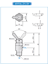 Load image into Gallery viewer, Mindman MVHA-2V Round Toggle Valve