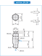 Load image into Gallery viewer, Mindman MVHA-3V Round Toggle Valve