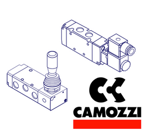 "Camozzi A332 1C2 G1/8"", 3/2 NO (A33), Series A, Directly Operated Solenoid Control Valve"