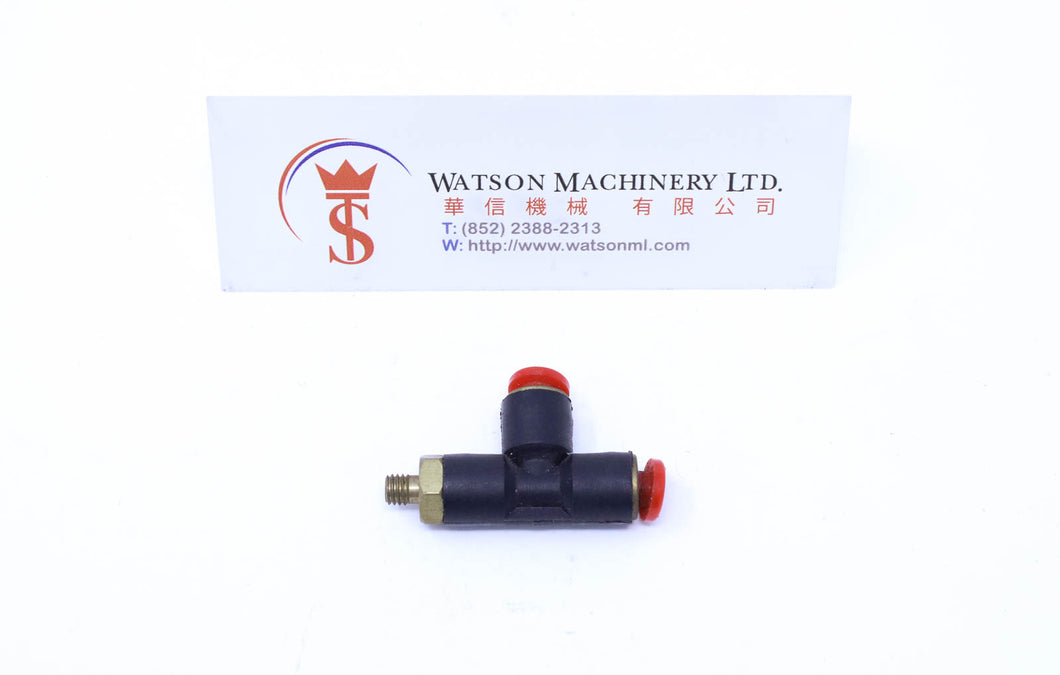 (CTD-4-M5) Watson Pneumatic Fitting Run Tee 4mm to M5 Thread (Made in Taiwan)
