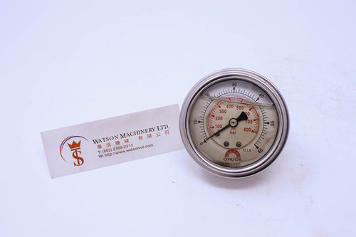 Watson Stainless Steel 60K Back Connection Pressure Gauge