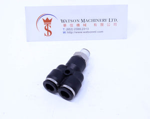 "(CTX-8-01) Watson Pneumatic Fitting Branch Y 8mm to 1/8"" Thread BSP (Made in Taiwan)"