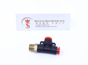 "(CTD-6-02) Watson Pneumatic Fitting Run Tee 6mm to 1/4"" Thread BSP (Made in Taiwan)"