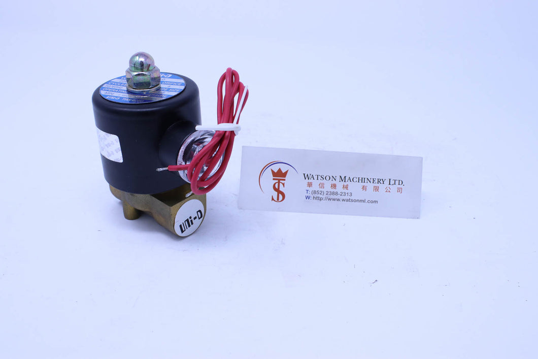 Uni-D UD-10 AC220V Solenoid Valve for Water and Steam Max Temp: 130C