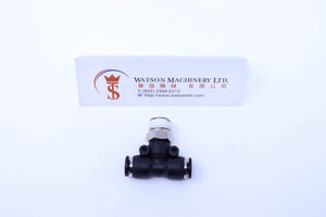 "(CTB-6-02) Watson Pneumatic Fitting Branch Tee 6mm to 1/4"" Thread BSP (Made in Taiwan)"
