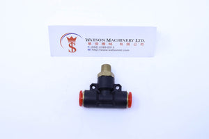"(CTB-8-01) Watson Pneumatic Fitting Branch Tee 8mm to 1/8"" Thread BSP (Made in Taiwan)"