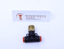 "Load image into Gallery viewer, (CTB-8-03) Watson Pneumatic Fitting Branch Tee 8mm to 3/8"" Thread BSP (Made in Taiwan)"