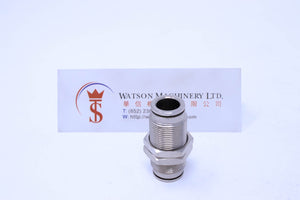 HB330012 12mm Bulkhead Connector Brass Push-In Fitting Bulkhead Connector