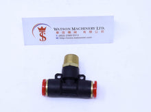 "Load image into Gallery viewer, (CTB-10-03) Watson Pneumatic Fitting Branch Tee 10mm to 3/8"" Thread BSP (Made in Taiwan)"