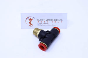 "(CTB-10-03) Watson Pneumatic Fitting Branch Tee 10mm to 3/8"" Thread BSP (Made in Taiwan)"