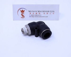 "(CTL-12-02) Watson Pneumatic Fitting Elbow Push-In Fitting 12mm to 1/4"" Thread BSP (Made in Taiwan)"
