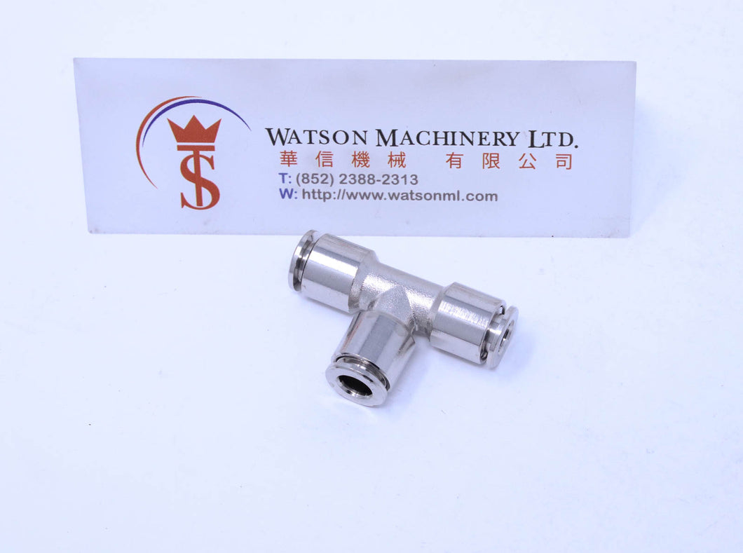 API R230006 (R230606) Push-in Fitting (Nickel Plated Brass) (Made in Italy) - Watson Machinery Hydraulics Pneumatics