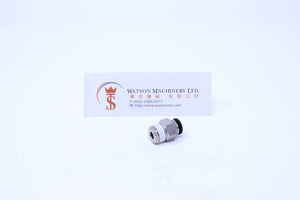 "(CTC-6-02) Watson Pneumatic Fitting Straight Connector Push-In Fitting 6mm to 1/4"" Thread BSP (Made in Taiwan)"