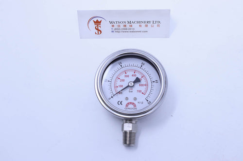 Watson Stainless Steel 50K Bottom Connection Pressure Gauge 50bar