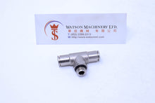 "Load image into Gallery viewer, HB160618 6mm to 1/8"" Central Tee Male Brass Push-In Fitting"