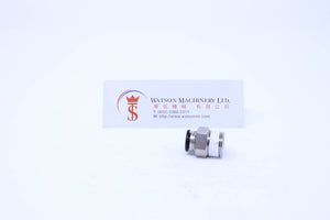 "(CTC-8-03) Watson Pneumatic Fitting Straight Connector Push-In Fitting 8mm to 3/8"" Thread BSP (Made in Taiwan)"