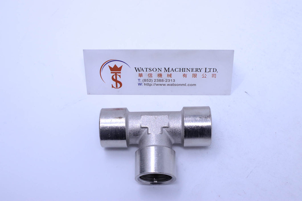 API A02312 Standard Pneumatic Fitting (Nickel Plated Brass) (Made in Italy) - Watson Machinery Hydraulics Pneumatics