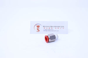 "(CTC-10-02) Watson Pneumatic Fitting Straight Connector Push-In Fitting 10mm to 1/4"" Thread BSP (Made in Taiwan)"