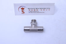 "Load image into Gallery viewer, HB160814 8mm to 1/4"" Central Tee Male Brass Push-In Fitting"