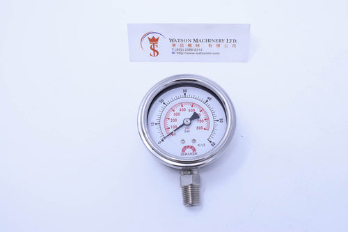 Watson Stainless Steel 60K Bottom Connection Pressure Gauge
