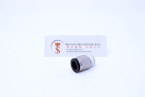 "(CTC-12-03) Watson Pneumatic Fitting Straight Connector Push-In Fitting 12mm to 3/8"" Thread BSP (Made in Taiwan)"