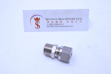 "Load image into Gallery viewer, API O111038 Compression Fitting BSPT Stud 3/8"" to 10mm (Nickel Plated Brass) (Made in Italy) - Watson Machinery Hydraulics Pneumatics"