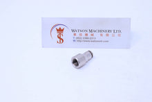 "Load image into Gallery viewer, API R130418 1/8"" Female to 4mm Push-in Fitting (Nickel Plated Brass) (Made in Italy) - Watson Machinery Hydraulics Pneumatics"