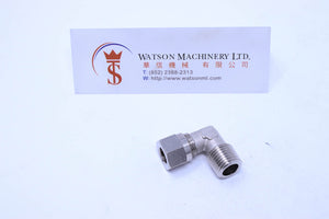 "API O160814 Compression Fitting BSPT Elbow 1/4"" to 8mm (Nickel Plated Brass) (Made in Italy) - Watson Machinery Hydraulics Pneumatics"