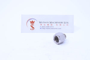 "API A0031814 1/8"" Male to 1/4"" Female Standard Pneumatic Fitting (Nickel Plated Brass) (Made in Italy) - Watson Machinery Hydraulics Pneumatics"