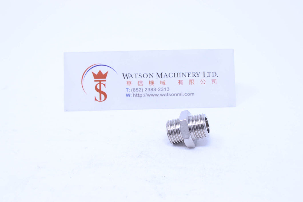 API A0051414 Standard Pneumatic Fitting (Nickel Plated Brass) (Made in Italy) - Watson Machinery Hydraulics Pneumatics