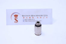 "Load image into Gallery viewer, HB040818 8mm to 1/8"" Straight Parallel Male Brass Push-In Fitting"