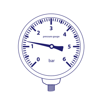 API MR50B012 1/4 Ø50 12bar pressure gauge
