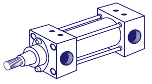 Jufan DC5 100X350 Pneumatic Cylinder (Made in Taiwan)