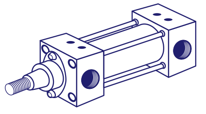 Jufan DC5 63X150 DOUBLE ROD Pneumatic Cylinder (Made in Taiwan)