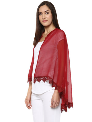 Solid Maroon Cape Shrug