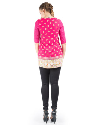 Magenta Color Printed Design Tunic