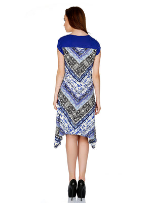 Blue Color Printed Dress