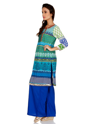 Printed Green Kurta