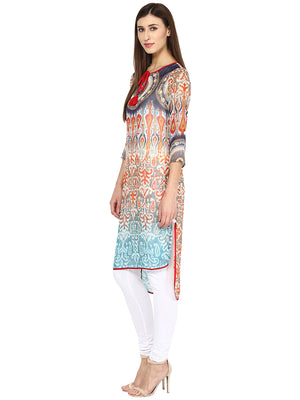 Multi Printed Blue Kurta