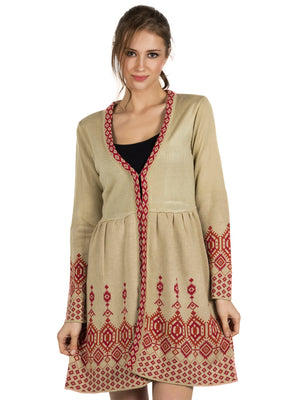 Beige Abstract Tunic