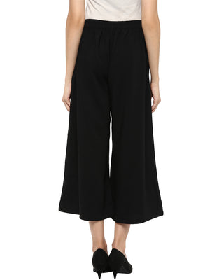 Black Solid Culotte