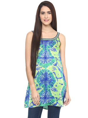 Printed Green Tunic