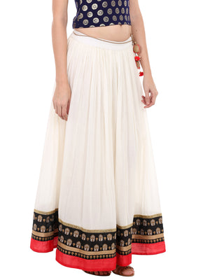 Multi Design Solid Long Skirt