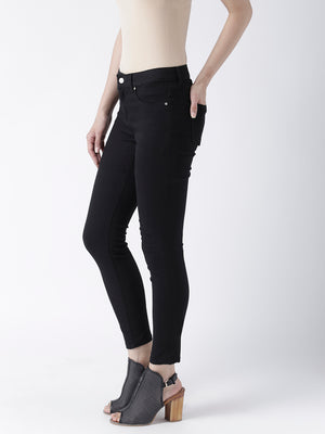 Black Solid Pant